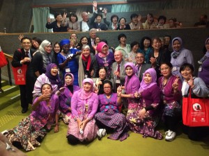 ADI members party with Indonesian women, photo courtesy of Mariella Guerra