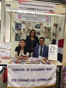Dominican Republic booth with Mariella and Daisy