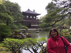 Nancy at Silver Pavilion, Kyoto