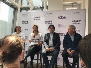 Move for Minds Panel Dr. Nancy Emerson Lombardo,  Maria Shriver, Dr. Rudy Tanzi and Dr. Dennis Selkoe